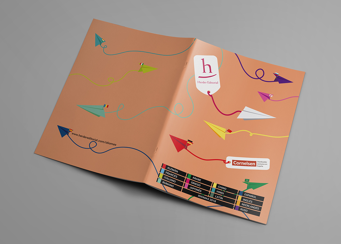 Catálogo de idiomas 2018, portada desplegada