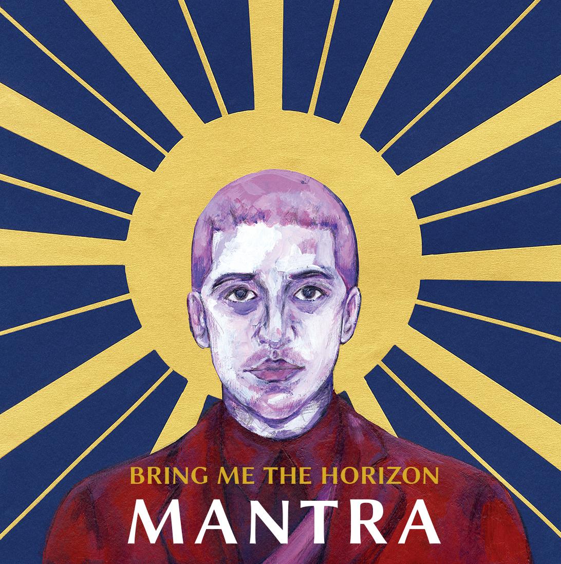 "Rediseño de portada del disco ""Mantra"" del grupo Bring me the Horizon"